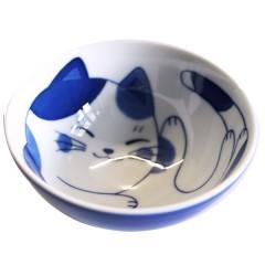 ねこちぐらミケG型茶椀(小)(入数:5)